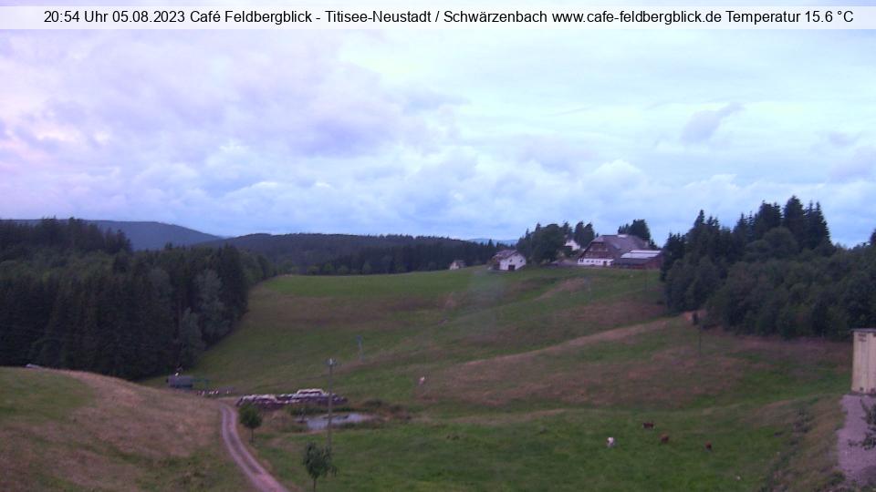 Webcam mit blick auf den Feldberg und Hochfirst vom Cafe Pension Feldbergblick in Titisee- Neustadt